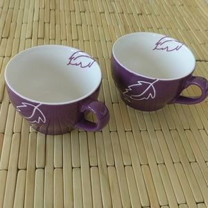 2 Starbucks Purple Leaf cup
